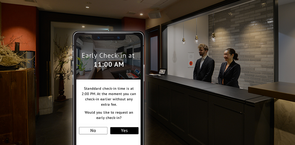 Request an early check-in